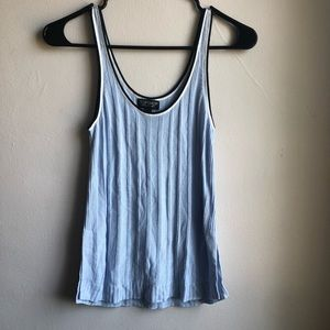 Blue Ribbed Topshop Tank